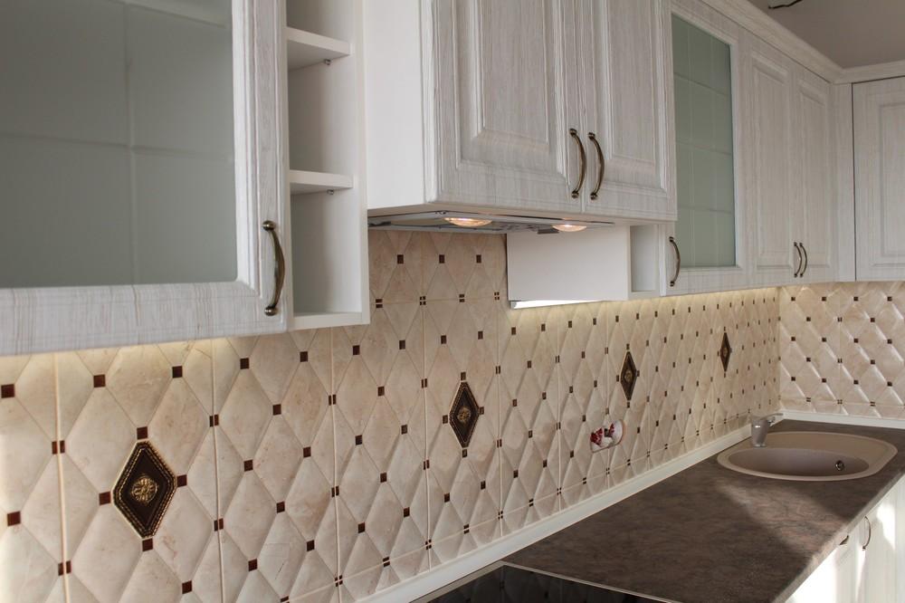 Белый кухонный гарнитур-Кухня МДФ в ПВХ «Модель 292»-фото6