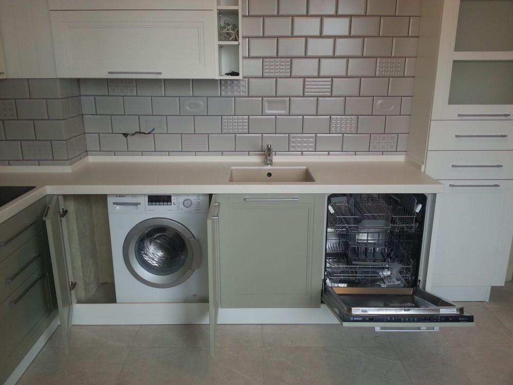 Белый кухонный гарнитур-Кухня МДФ в эмали «Модель 277»-фото2