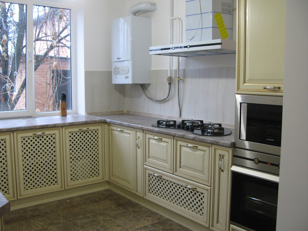 Белый кухонный гарнитур-Кухня МДФ в ПВХ «Модель 273»-фото3