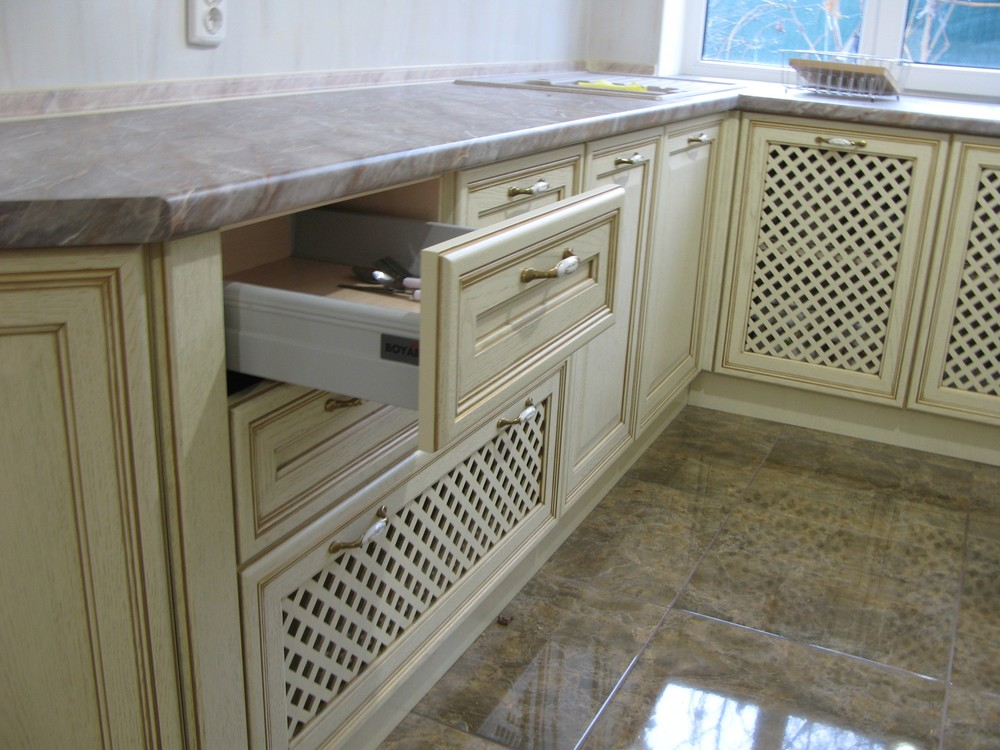 Белый кухонный гарнитур-Кухня МДФ в ПВХ «Модель 273»-фото6