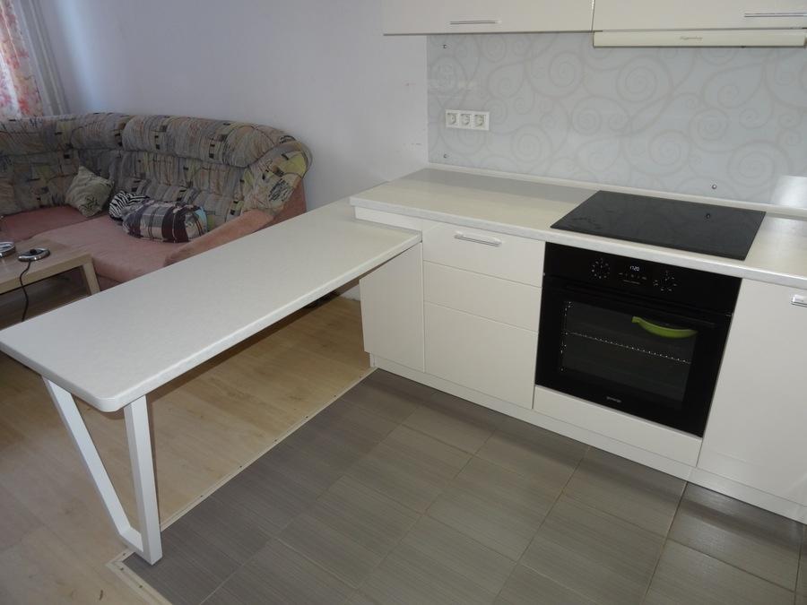 Белый кухонный гарнитур-Кухня МДФ в ПВХ «Модель 516»-фото2