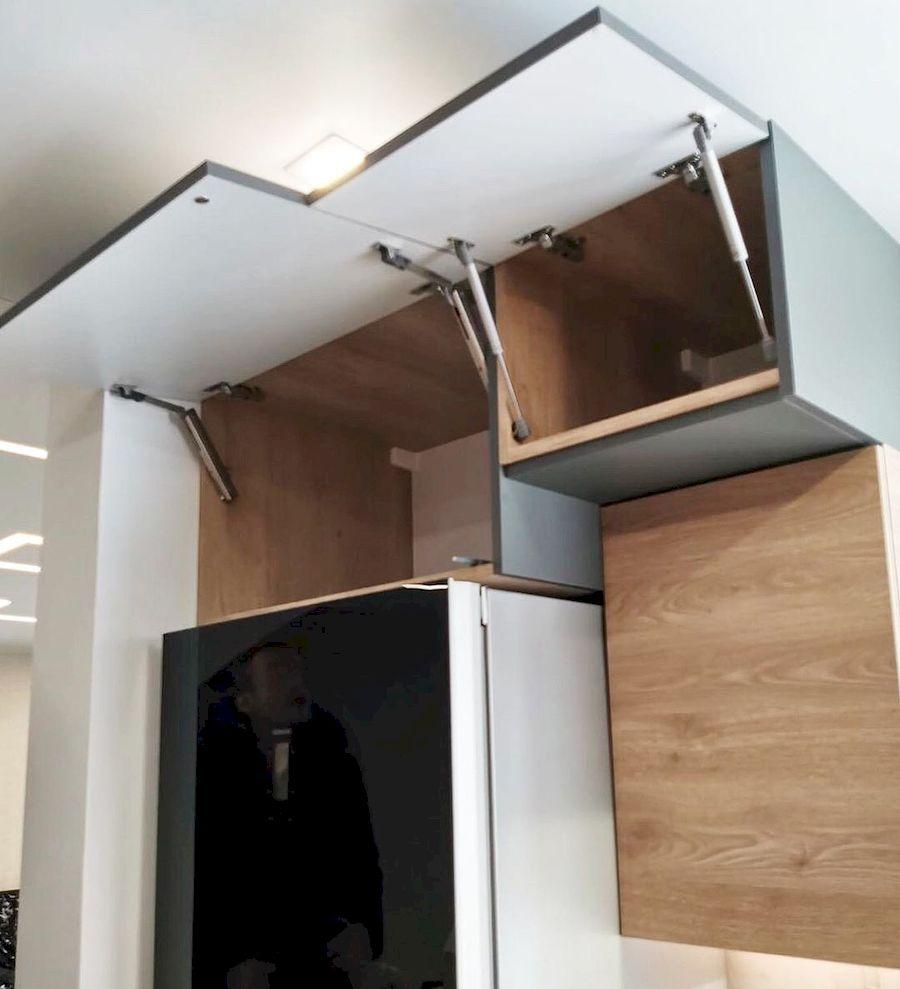 Встроенная кухня-Кухня МДФ в ПВХ «Модель 663»-фото4