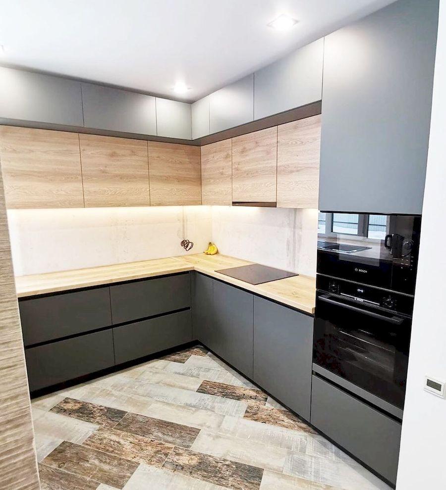 Встроенная кухня-Кухня МДФ в ПВХ «Модель 663»-фото2