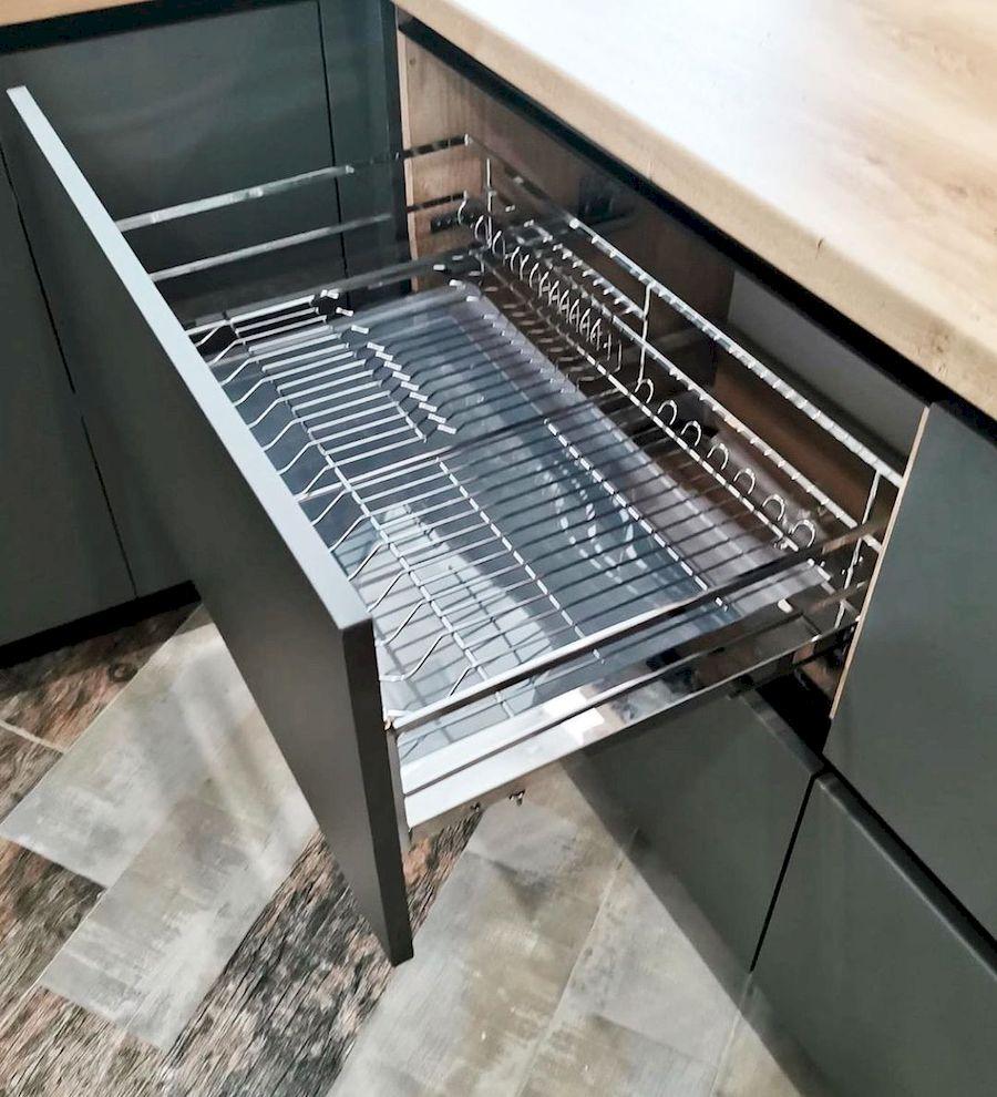 Встроенная кухня-Кухня МДФ в ПВХ «Модель 663»-фото5