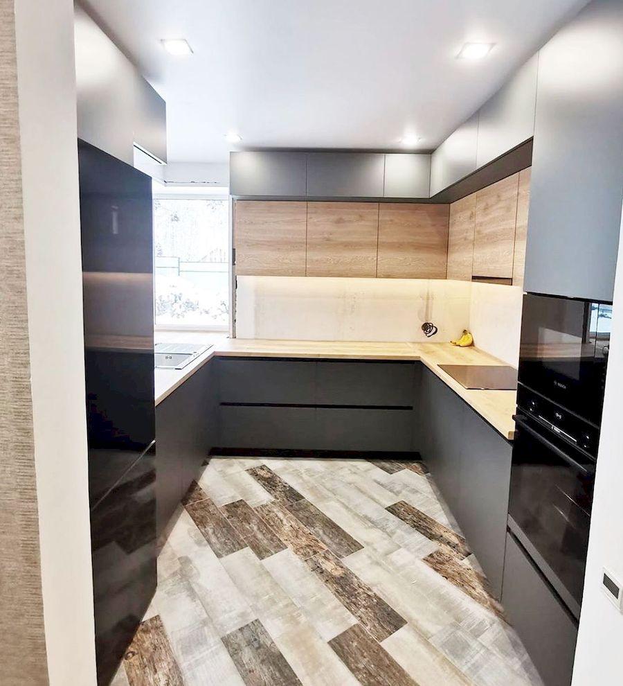 Встроенная кухня-Кухня МДФ в ПВХ «Модель 663»-фото1