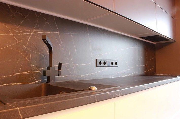 Белый кухонный гарнитур-Кухня МДФ в эмали «Модель 658»-фото4