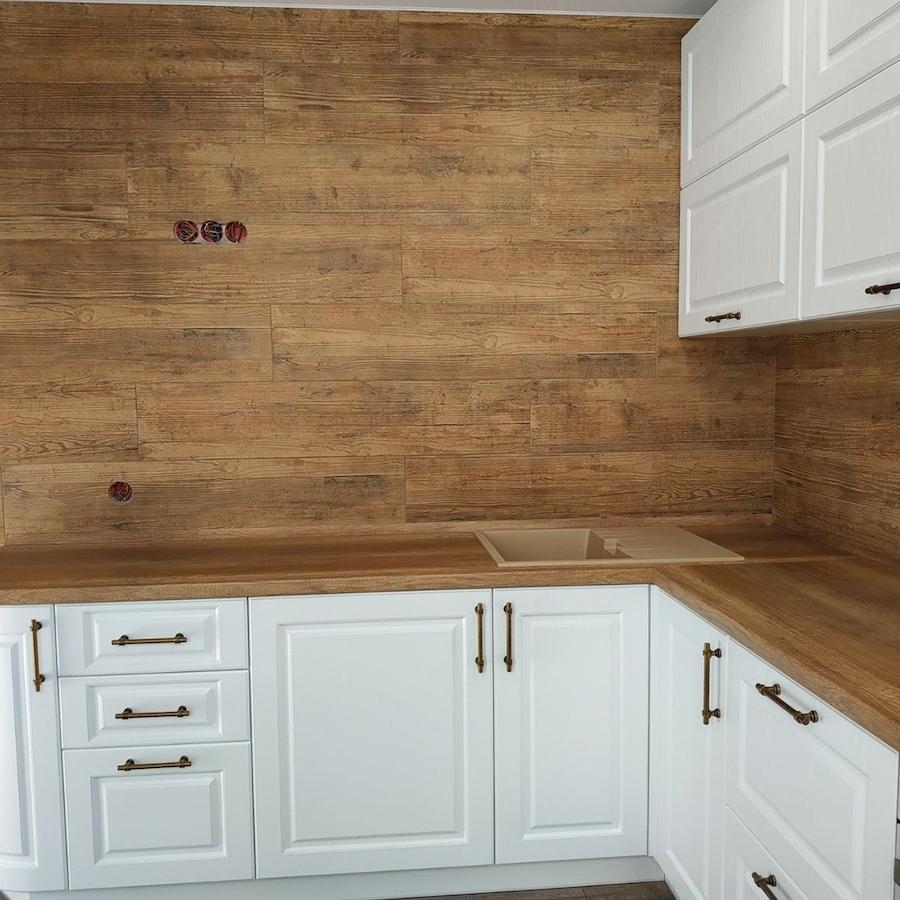 Белый кухонный гарнитур-Кухня МДФ в ПВХ «Модель 597»-фото3