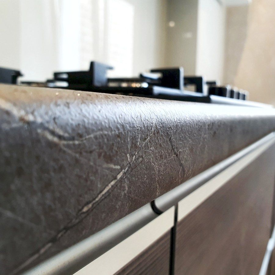 Белый кухонный гарнитур-Кухня из пластика «Модель 539»-фото9