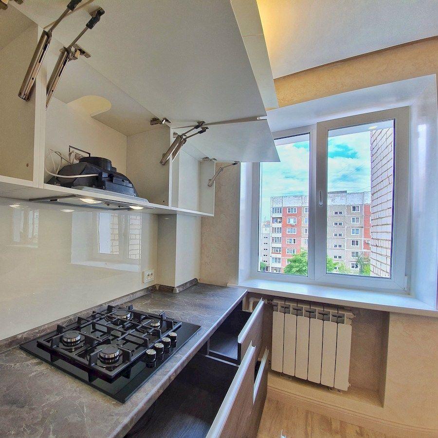 Белый кухонный гарнитур-Кухня из пластика «Модель 539»-фото7