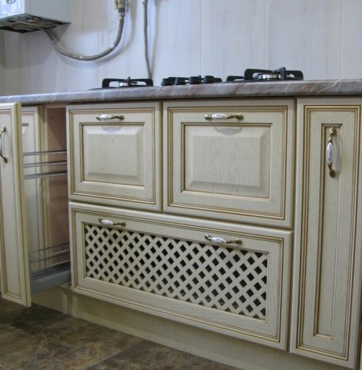 Белый кухонный гарнитур-Кухня МДФ в ПВХ «Модель 273»-фото8