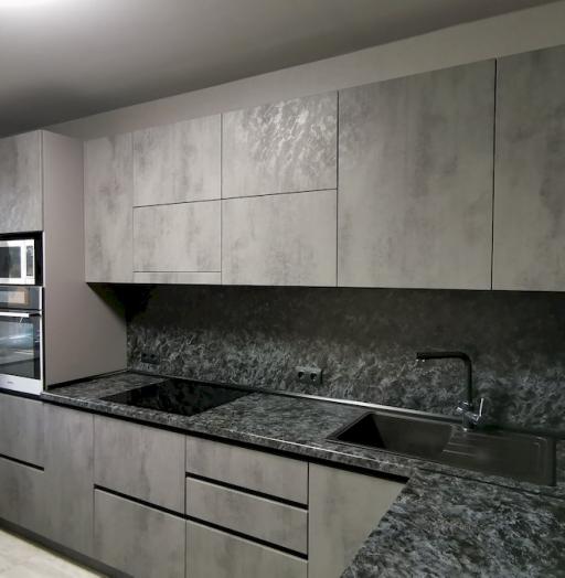 Купить кухню-Кухня МДФ в ПВХ «Модель 575»-фото4