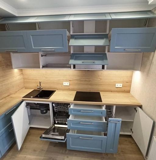 -Кухня МДФ в эмали «Модель 586»-фото20